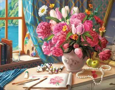 Набор для вышивания Цветной Алмазная вышивка lg218 «Рабочий стол художника»
