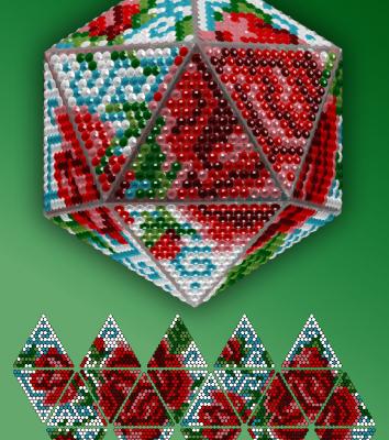 Набор для вышивания Вдохновение IP002 Розы стилус