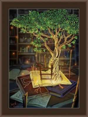 Основа для вышивания с нанесенным рисунком Матрёшкина КАЮ6024 Мир в книгах