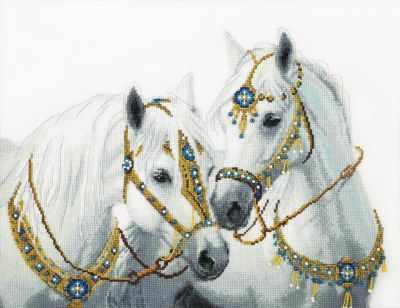 Набор для вышивания Чарiвна Мить ВТ-249 Свадебные лошади