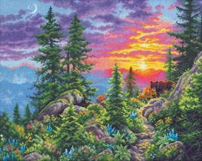 Набор для вышивания Dimensions 35383-DMS Горная тропа на закате