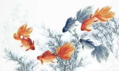 Набор для вышивания Чарiвна Мить М-354 Золотые рыбки. Исполнение пяти желаний