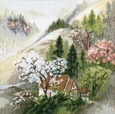 Набор для вышивания Чарiвна Мить М-365 Уютный домик у горного ручья
