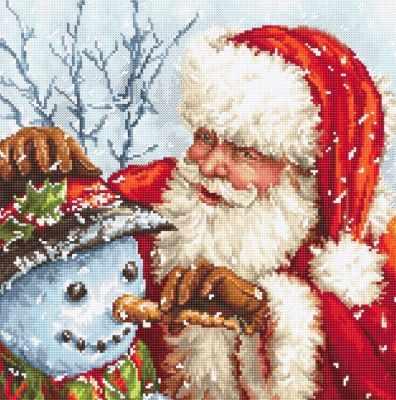 919 - Санта Клаус и снеговик