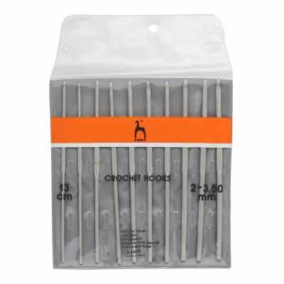 Инструмент для вязания PONY 44220 Крючок вяз. 2,0-3,5 мм*13 см (набор 10 шт)