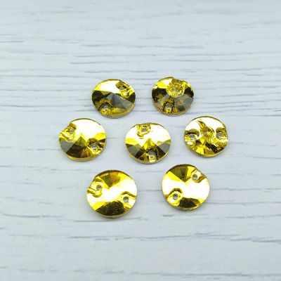 Каталог Хрустальные грани РИ002НН10 Хрустальные стразы Желтый (без покрытия) 10 мм, 10 шт.