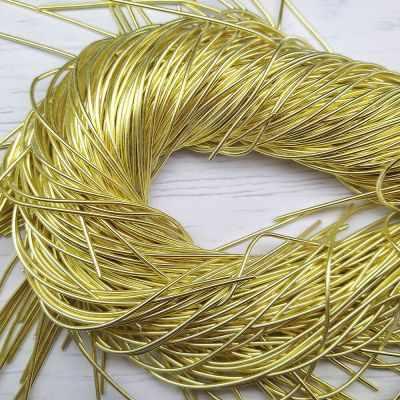 Каталог Хрустальные грани КА003НН1 Упаковка Канитель гладкая Светлое золото 1 мм 5 грамм +/- 1 гр.