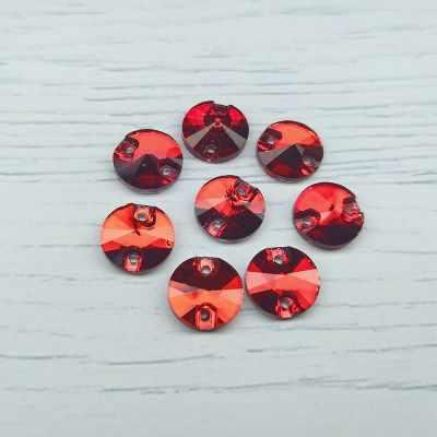 Каталог Хрустальные грани РИ001НН10 Хрустальные стразы Красный (без покрытия) 10 мм, 10 шт.