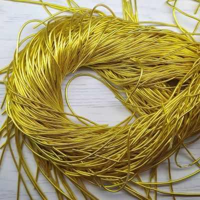 Каталог Хрустальные грани КА001НН1 Упаковка Канитель гладкая Золото 1 мм 5 грамм +/- 0,1 гр.