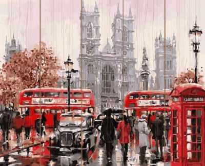 Набор для рисования по номерам Molly KD0021 Лондонский транспорт деревянное панно с зеркалом glambers
