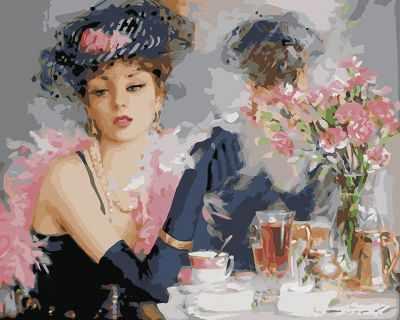 Набор для рисования по номерам Molly KH0112 Чашкой чая molly цветы лаванды 40х50 см