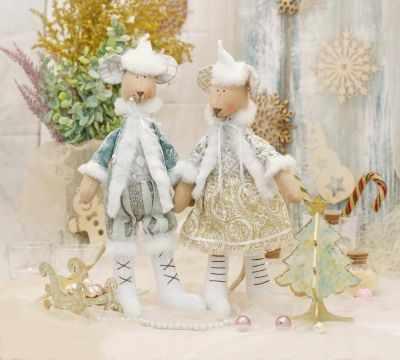 Набор для изготовления игрушки HappyMade Ш124.125 Набор для шитья и рукоделия Санта Мышки
