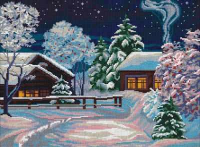 Набор для вышивания Nitex 0282 Зимняя ночь