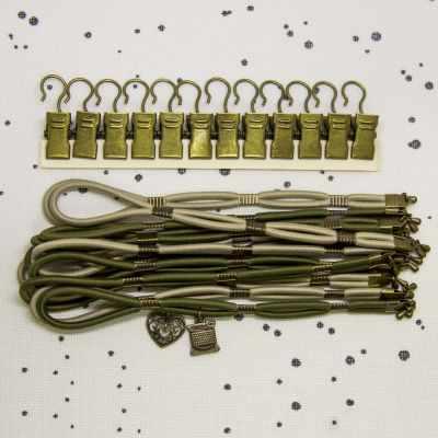 Боковая натяжка канвы Алина 003138 Боковая натяжка плотная, микс хаки + тирамису