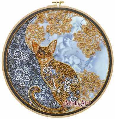 Фото - Набор для вышивания Абрис Арт АВ-709 Лунный кот набор для вышивания абрис арт ав 687 чеширский кот