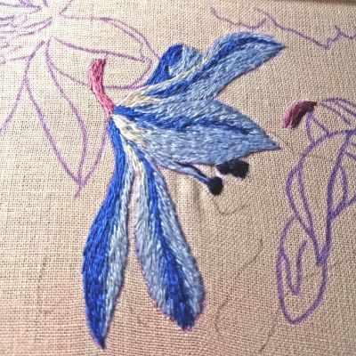 Набор для вышивания Гладкий мир Мышиный гиацинт 1 - набор