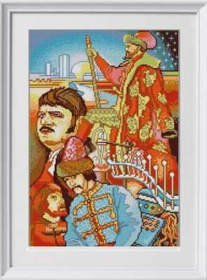 Основа для вышивания с нанесённым рисунком Конёк НИК 1292 Иван Васильевич - схема