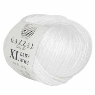 Пряжа GAZZAL Пряжа GAZZAL Baby Wool XL Цвет.801XL Белый
