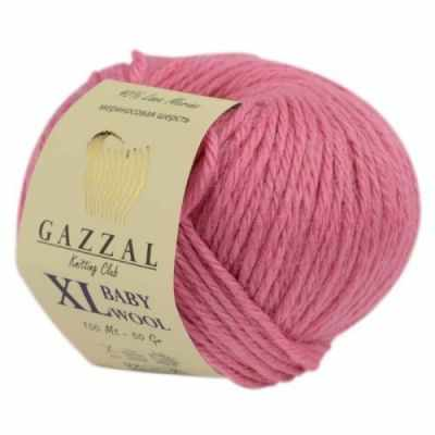 Пряжа GAZZAL Пряжа GAZZAL Baby Wool XL Цвет.828XL Розовый