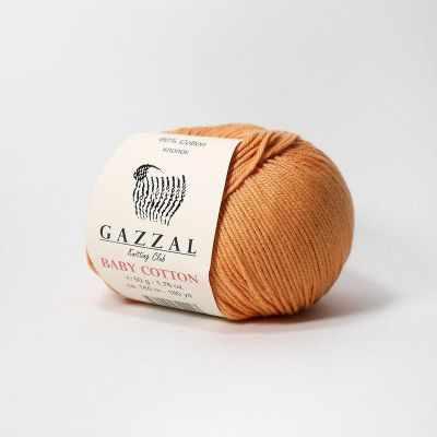 Пряжа GAZZAL Пряжа GAZZAL Baby Cotton Gazzal Цвет.3465 Терракот