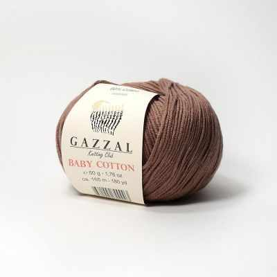 Пряжа GAZZAL Пряжа GAZZAL Baby Cotton Gazzal Цвет.3455 Шоколад