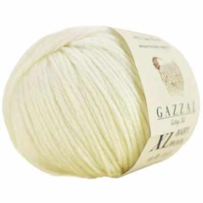Пряжа GAZZAL Пряжа GAZZAL Baby Wool XL Цвет.829XL Молочный