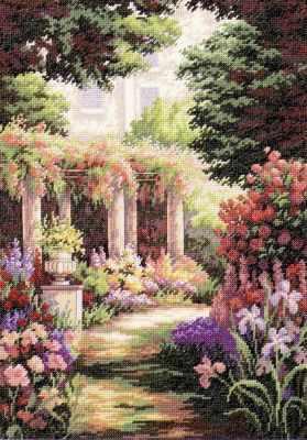 Набор для вышивания Classic Design 4480 Цветочный дворик