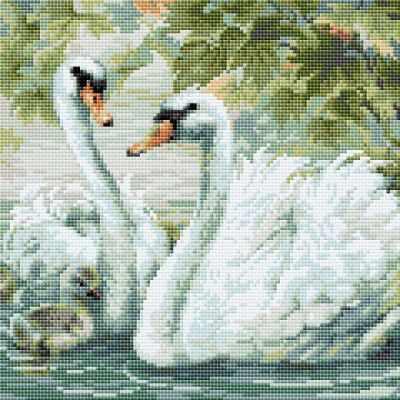 Набор для вышивания Риолис (Сотвори Сама) Алмазная вышивка АМ0036 Белые лебеди стилус