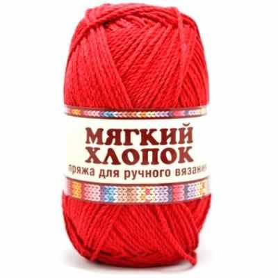 Пряжа Камтекс Мягкий хлопок Цвет.46 Красный