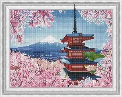 Набор для вышивания Molly Алмазная вышивка KM0191 Японская пагода