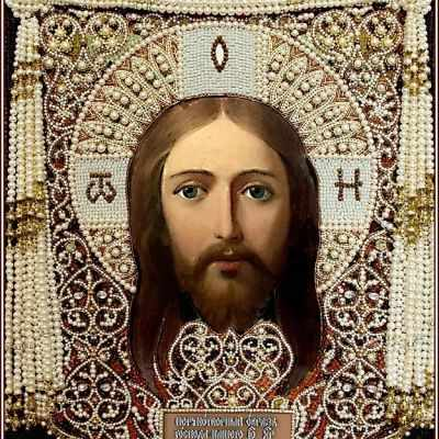 Набор для вышивания иконы Образа в каменьях 7727 Спас Нерукотворный (жемчуг)