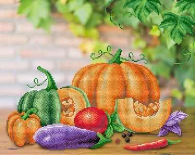 Основа для вышивания с нанесённым рисунком МП Студия Г-174 Овощной натюрморт (МП Студия)