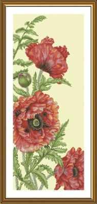 Набор для вышивания Nova Sloboda СВ6236 Красные маки