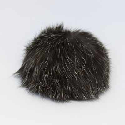 цена на Помпон - Помпон D9 мех кролик Цвет.30 Темное серебро
