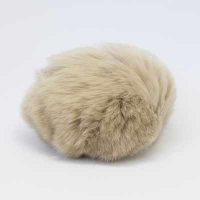 Помпон - Помпон D9 мех кролик (рекс) Цвет.06 Капучино