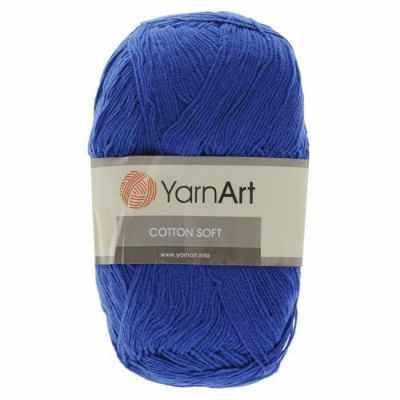 Фото - Пряжа YarnArt Пряжа YarnArt Cotton Soft Цвет.54 Темно синий брюки мужские oodji lab цвет темно синий 2l100082m 44215n 7900n размер 42 182 50 182