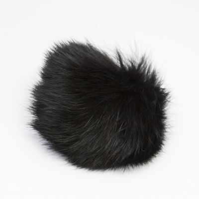 Помпон - Помпон D9 мех кролик Цвет.02 Черный