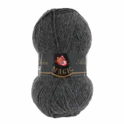 Фото - Пряжа Magic Пряжа Magic Alaska Цвет.5822 Темно-серый меланж носки мужские стильная шерсть цвет темно серый белый 618 1с47 125 размер 29