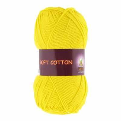 Пряжа VITA Пряжа VITA Soft Cotton Цвет.1803 Лимонный