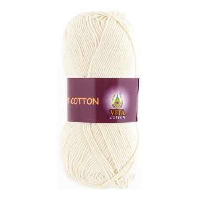 Пряжа VITA Пряжа VITA Soft Cotton Цвет.1817 Молочный