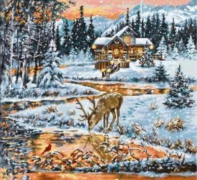 Фото - Набор для вышивания Luca-S BU4022 Хижина в лесу bu4022 набор для вышивания хижина в лесу 43 5 40см luca s
