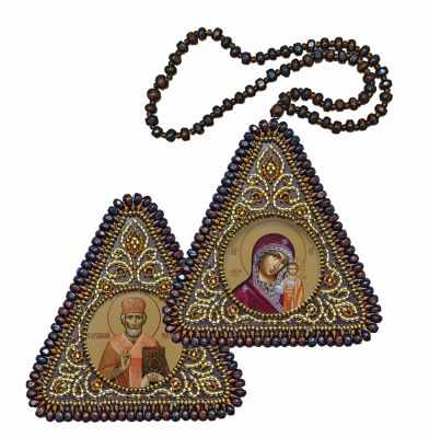 Набор для вышивания иконы Nova Sloboda ТР1034 Богородица Казанская и Св.Николай Чудотворец
