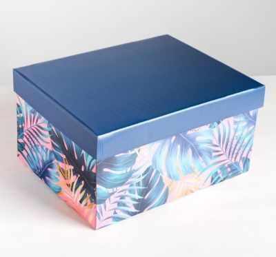Фото - Подарочная коробка Дарите Счастье 4757484 Коробка складная Tropical коробка трансформер подарочная дарите счастье с новым годом 13 х 9 х 5 см