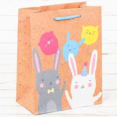 Подарочный конверт Дарите Счастье 2942133 Пакет крафтовый вертикальный «С Днём Рождения!»