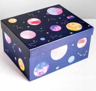 Подарочная коробка Дарите Счастье 4757487 Коробка складная «Космос»