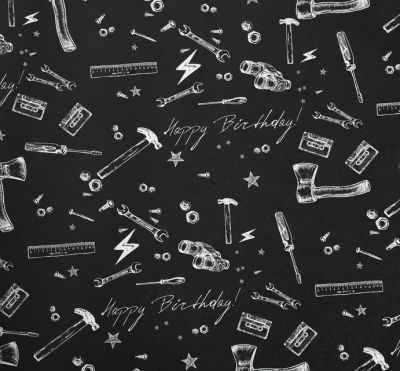 Бумага для упаковки подарков Дарите Счастье 4424177 Бумага крафтовая «Брутального дня рождения»