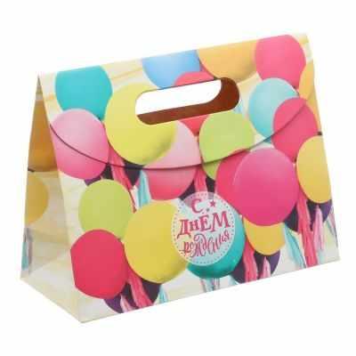Подарочный конверт Дарите Счастье 3114704 Пакет подарочный «С Днем Рождения!»