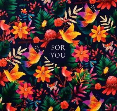 Бумага для упаковки подарков Дарите Счастье 4572117 Бумага глянцевая Tropical