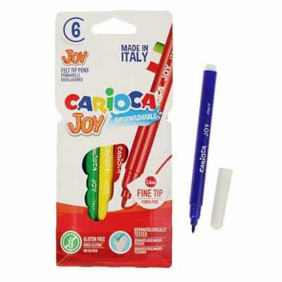 Маркеры и фломастеры Carioca 3044806 Фломастеры 6 цветов Carioca Joy, 2.6 мм, в картонном конверте
