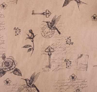 Бумага для упаковки подарков Дарите Счастье 4681759 Бумага упаковочная крафтовая «Шебби»